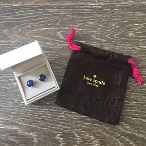 Kate Spade Blue round Earrings
